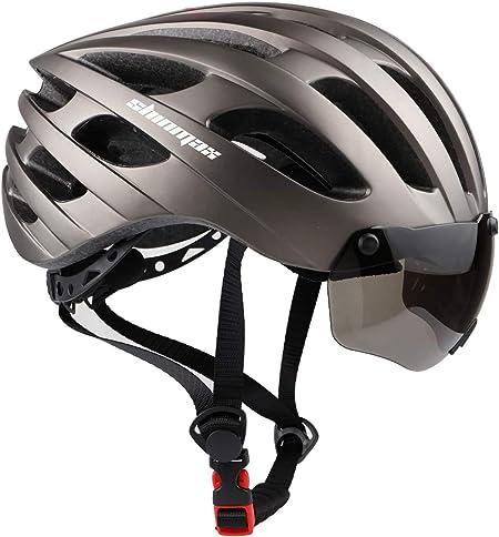Shinmax Casco Bicicleta Adulto,Casco Bicicleta con Visera Magnética Extraíble,Certificación CE,Protección para Montar & Snowboard Unisex Cascos ...