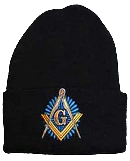 Image Unavailable. Image not available for. Color  Buy Caps and Hats  Masonic Winter Skull Cap Beanie Freemason Mens One Size Black 190a6f30f4f7