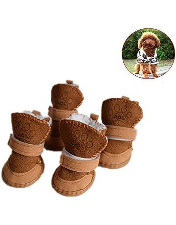 Sannysis Zapatos de Seguridad Mascotas Dress up Zapatillas Navidad Mascotas Perros pequeños Botas de Invierno Accesorios