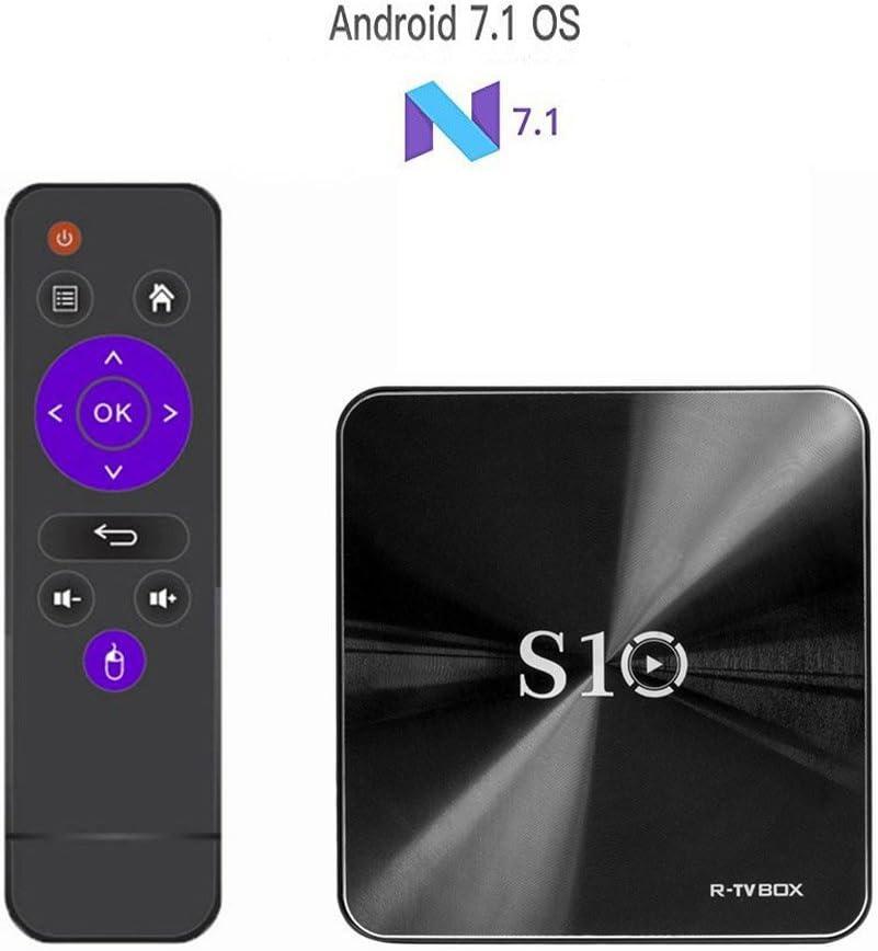 R-TV BOX S10 TV BOX 2017 Última Versión Android 7.1 Amlogic S912 DDR4 3G/32G Octa Core Soporta 2.4G/5G de Doble Banda WIFI 1000M LAN 4K 3D con Control Remoto: Amazon.es: Electrónica