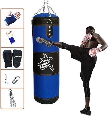 JP 7 pcs Punch Bag Set 4 FT 5 FT 6 FT Boxing Gloves Heavy Chain Bracket Training Strength Workout Unfilled