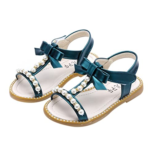 735a0b71d GETUBACK Kids Toddlers Girl s Princess Sandals with Peals New Green CN Size  24