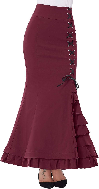 Belle Poque Petticoat Vintage Victorian Mermaid High Waist Stretch ...