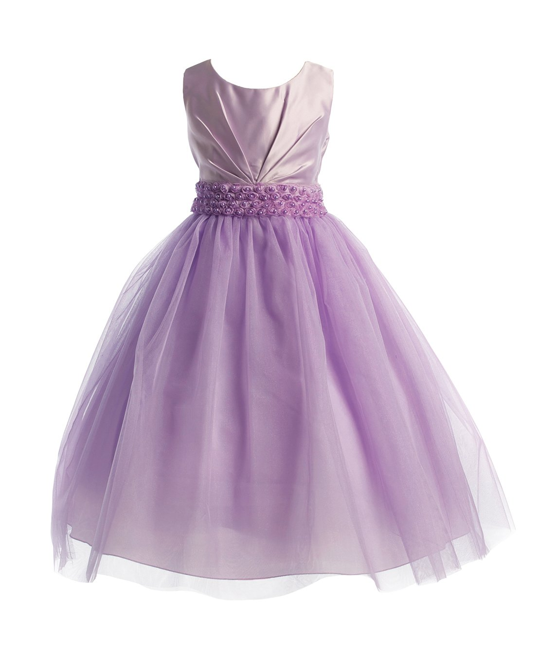 Amazon.com: Joy Kids Girls Pleated Satin Pearl Special Occasion ...