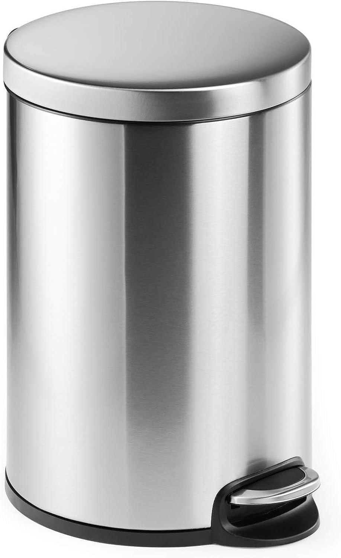 Durable 20 Litre Phoenix unisex Mall Stainless Bin Pedal Steel