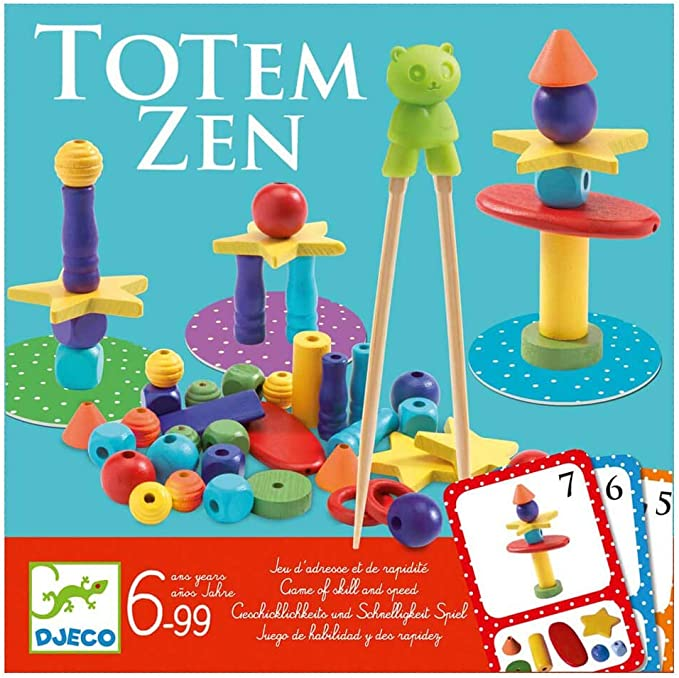 DJECO- Juegos de acción y reflejosJuegos educativosDJECOJuego Totem Zen, (15): Amazon.es: Juguetes y juegos