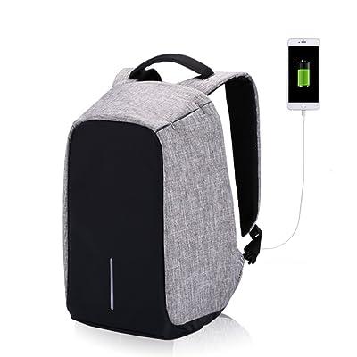 best Laptop Backpack Anti Theft Computer Bag Multifunctional Compartment Eco-friendly Travel Shoulder Bag Men Women Water Resistant Travel Back Bag USB Charging Port Fits 15.6 Inchs