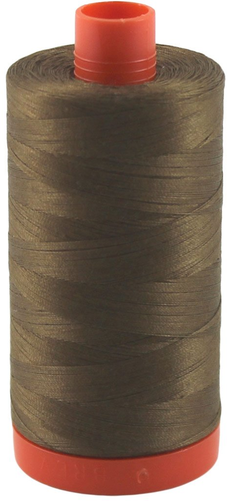 Aurifil Thread 2372 DARK ANTIQUE GOLD Cotton Mako 50wt Large Spool 1300m