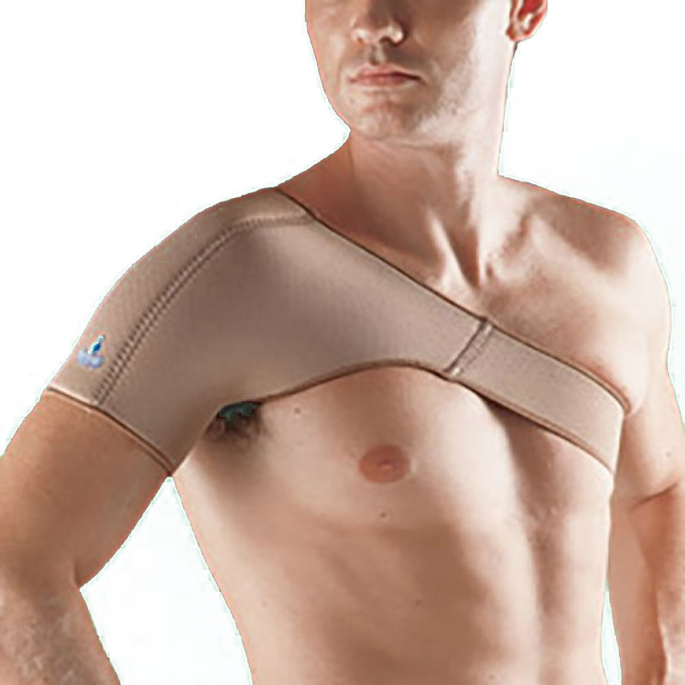 Oppo Medical Right or Left Breathable Neoprene Shoulder Support (Unisex; Natural), X-Large by Oppo Medical