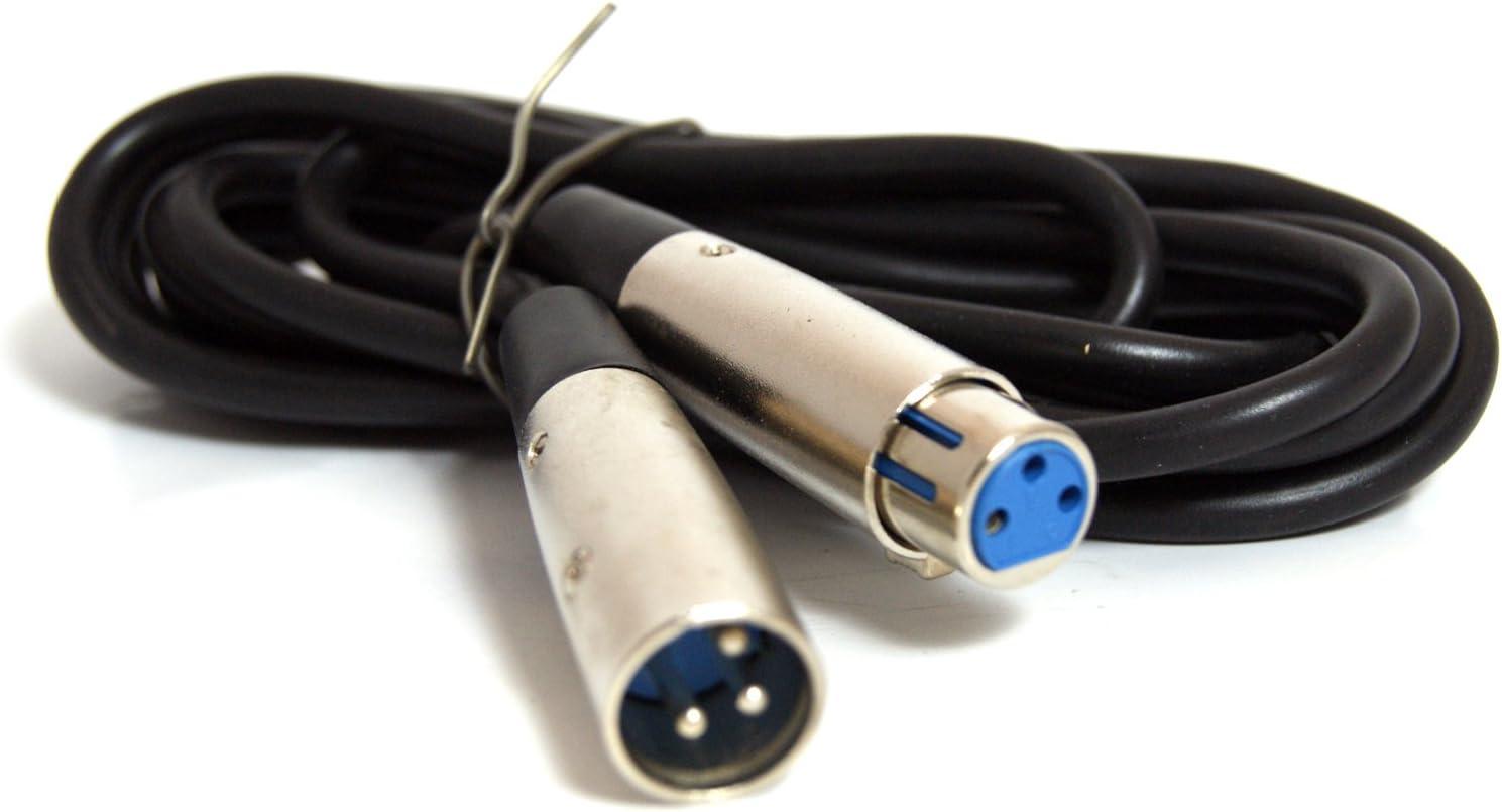 schwarz 90° Winkel XLR Kabel für Hifi Anlagen 3 polig 3 m XLR Audiokabel