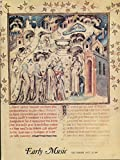 img - for Early Music : Musical Manuscripts of Guillaume de Machaut; 'Musica Ficta' in Machaut; Machaut's 'Pupil