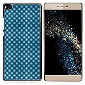 "Qstar Arte & diseño plástico duro Fundas Cover Cubre Hard Case Cover para Huawei Ascend P8 (Not for P8 Lite) (Light Blue Dots"")"