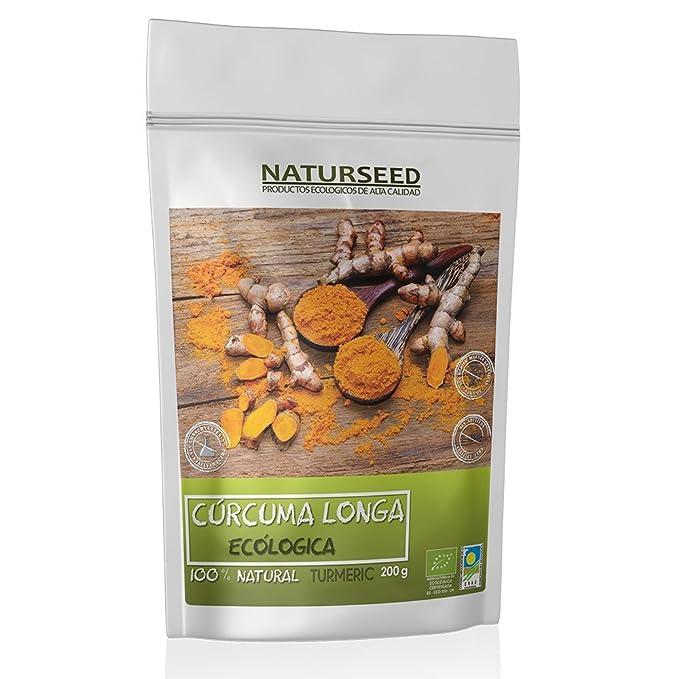 NATURSEED Curcuma Longa Ecológica En Polvo - Pura, Organica - Turmeric Root Powder - Suplemento