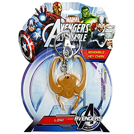 Amazon.com: Marvel Avengers Loki Casco Bendable Llavero ...