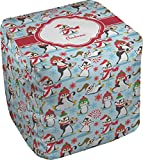 RNK Shops Christmas Penguins Cube Pouf Ottoman - 13'' (Personalized)