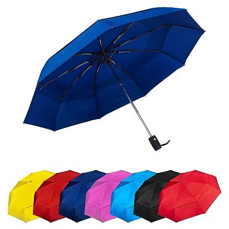 b92a3cb54e Paraguas Plegables Automático Antiviento. Paraguas Originales de Colores  Mujer Hombre Ligero Resistente y Compacto.