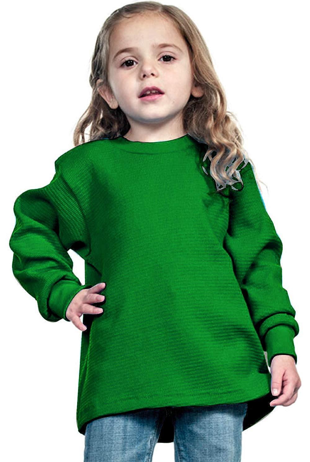 Shaka Wear Kids Waffle Thermal Long Sleeve Crewneck T Shirt XXS-XL KTC