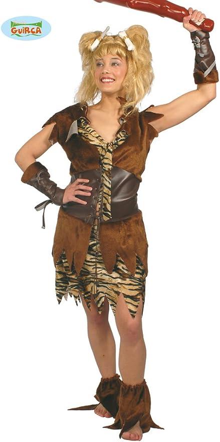 Disfraz de mujer cavernícola marrón - Estándar: Amazon.es ...