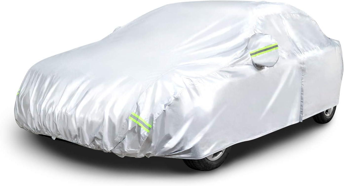 Amazon Basics Wetterfeste Auto Abdeckung Silberfarben Peva Mit Baumwolle Limousinen Bis 510 Cm Auto