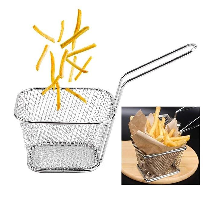 2 x Frittierkorb mini für Pommes und Wedges 10 x 8,5 cm Pommeskorb Frittenkorb