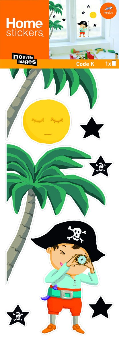 Home Stickers HOWI 1459 Pirate and Stars Window Stickers