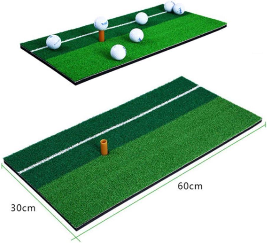 Indoor-Hinterhof-Golf-Pad F/ür Golfschwung-Trainingstraining Fahren Schlagen Rasentraining Putting Chippen SNKAP 30 X 60 cm Golfgras-/Übungsmatte