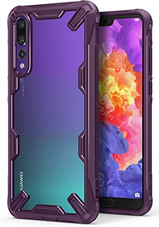 Ringke Fusion-X Compatible with Huawei P20 Pro Ergonomic Transparent [Military Drop Tested Defense] PC Back TPU Bumper Impact Resistant Protection ...