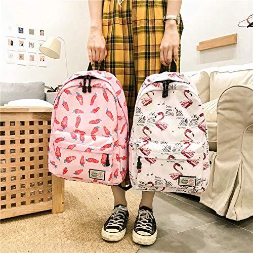 3 la para Lona Cremallera Student de móvil del Mochila Girl de Libros Majome de teléfono Bolso de Viaje Escuela del señora qORFxOndE