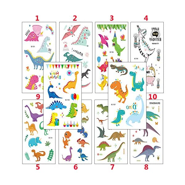 Zehhe Pack of 16 Sheets Unicorn Temporary Removable Tattoos for Kids Girls Boys Birthday Party, Unicorn Party Supplies… 4