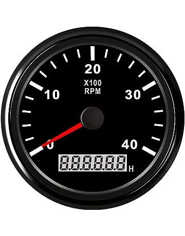 Tacómetro de motor marino de φ85mm, tacómetro indicador de indicador digital, para motores,