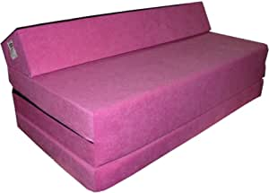Natalia Spzoo Colchón plegable cama de invitados forma de sillón sofá de espuma 200 x 120 cm (Rosa 1227)