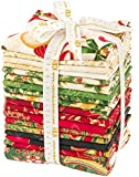 Peggy Toole Holiday Flourish 10 Holiday 17 Fat Quarters 1 Panel Robert Kaufman Fabrics FQ-1209-18