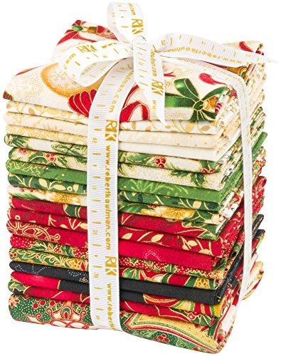 Peggy Toole Holiday Flourish 10 Holiday 17 Fat Quarters 1 Panel Robert Kaufman Fabrics FQ-1209-18 by Robert Kaufman Fabrics