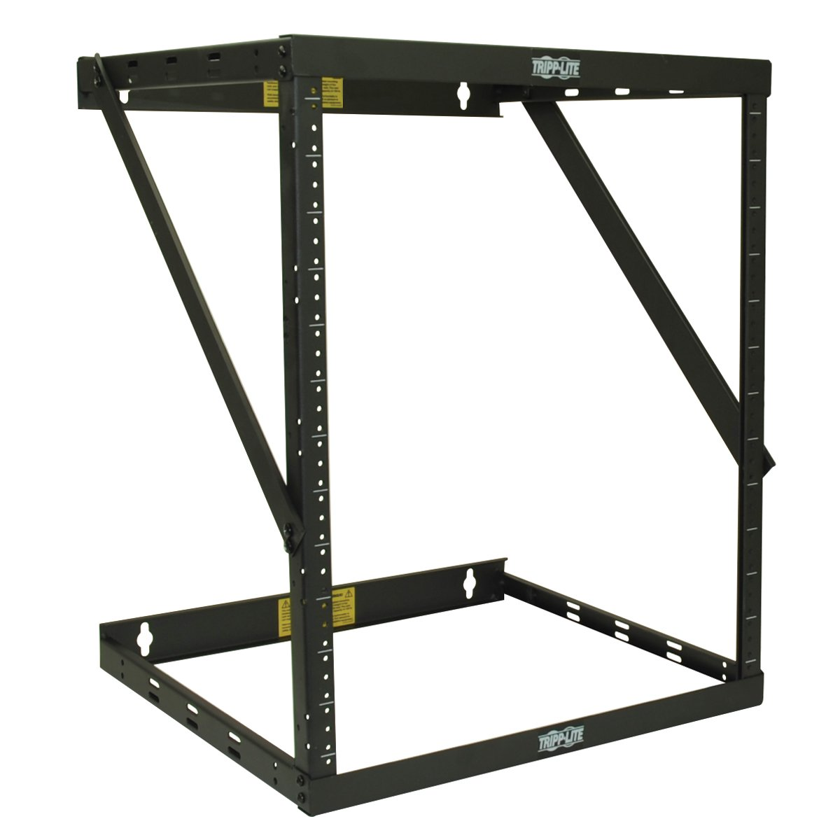 Tripp Lite 8U/12U/22U Expandable Wall-Mount 2-Post Open Frame Rack, Adjustable Network Equipment Rack, Switch Depth, 18'' Deep (SRWO8U22)