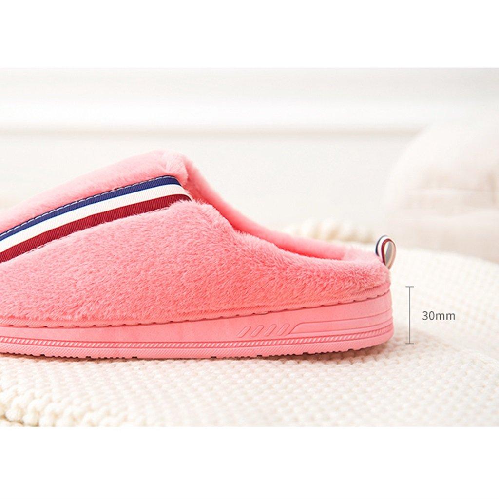Hausschuhe Baumwolle zu Hause Warme Frau Winter Innen Slip Verdickung Große Größe Hause Schuhe (Farbe : Pattern 2, Größe : EUR:36-37)