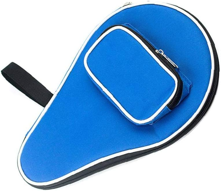 Tabla Caso Pista De Paddle En Forma De Hulu con Cremallera Recinto Tabla Raqueta De Tenis Cubierta De La Caja Paleta De Ping Pong Bolsa De Transporte con La Bola Azul del Bolsillo De Almacenamiento
