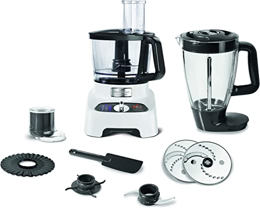 Moulinex Double Force FP8221 1000W 3L Negro, Color blanco - Robot de cocina (3 L, Negro, Blanco, Botones, Giratorio, 2 L, De plástico, De plástico): Amazon.es: Hogar