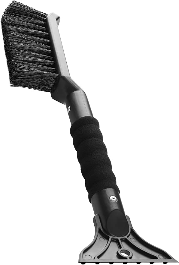 AD AIDO 26 Snow Brush with Squeegee /& Ice Scraper Car Truck SUV Winter Remover Rotating Head Foam Grip Auto Windshield Snowbrush no Scratch Broom Removal Tool