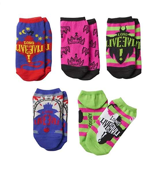 43a12d5dac5 Image Unavailable. Image not available for. Color  Disney Descendants No  Show 5 Pair Socks ...