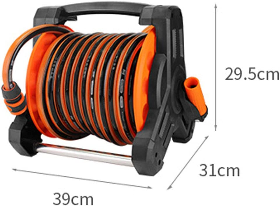 DBMGB Hoselink Retractable Hose Reel, Garden Hose Reel Cart Holder, Hose Storage Reel Rack Wall Mount, Patio Lawn Garden Equipment to Keep Water Pipe Neat, Easy to Install 15m