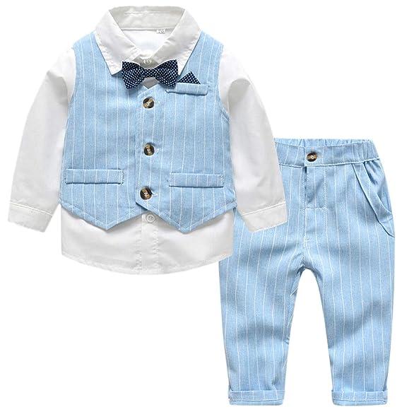 Amazon.com: SANGTREE - Juego de ropa de vestir para bebé, 3 ...