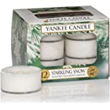Yankee Candle Tea Light Candles, Sparkling Snow, Pack of 12