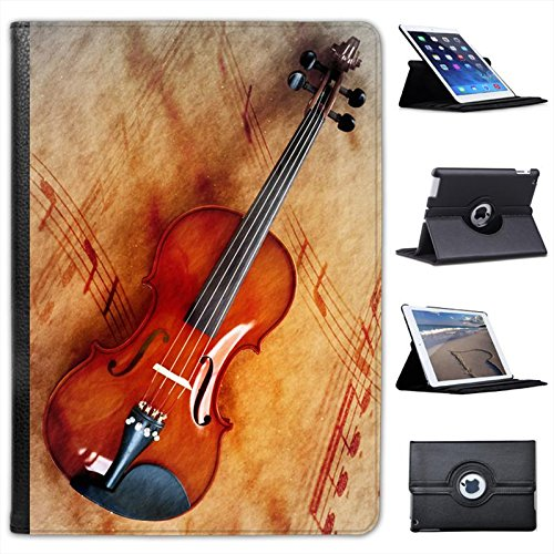 Folio Violin - Violin & Sheet Music For Apple iPad Air 2 [2014 Version] Faux Leather Folio Presenter Case Cover Bag with Stand Capability