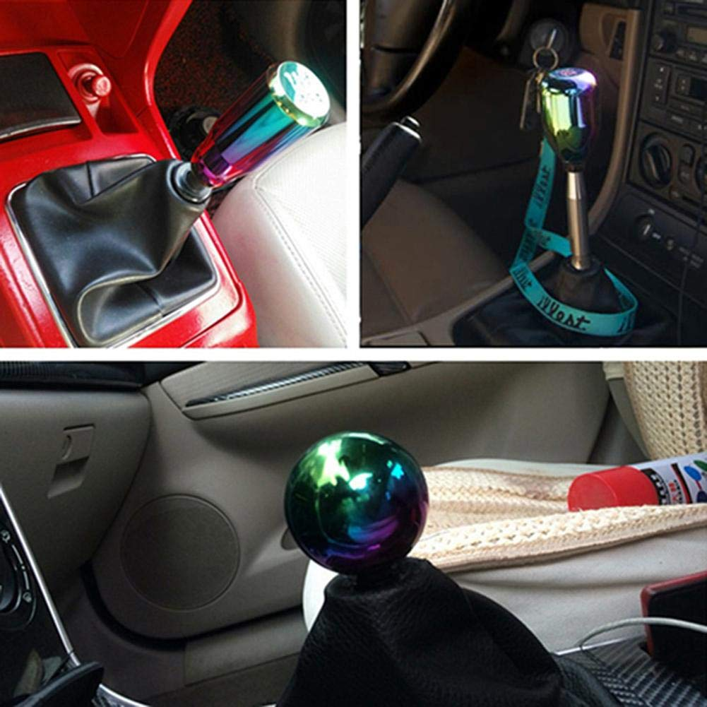 HITTIME 6 Speed Automotive Gear Shift Knob Aluminum Manual Stick Shift Knob Gear Stick Shift Head fit for Universal Short