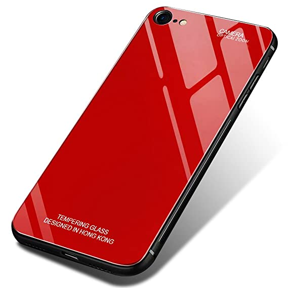 reputable site bdd71 04948 iPhone 6s Case, iPhone 6 Hard Plastic Case, MAOOY Luxury Color Design Shell  with Soft TPU Silicone Bumper + Tempered Glass Back Case for iPhone 6/6s,  ...
