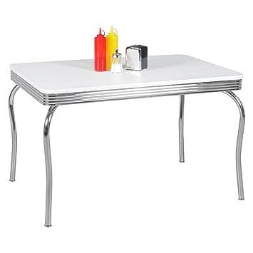 FineBuy KING   American Diner Esstisch 120 X 76 X 80 Cm Aus MDF/Aluminium