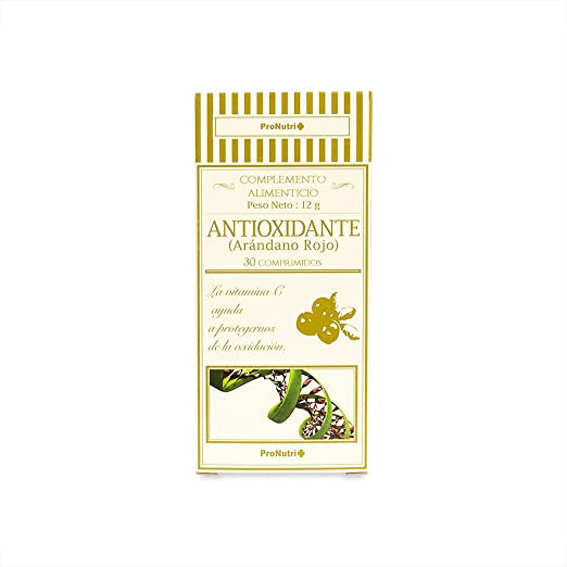 PRONUTRI Antioxidante (Arándano Rojo) 30 comprimidos: Amazon.es: Salud y cuidado personal