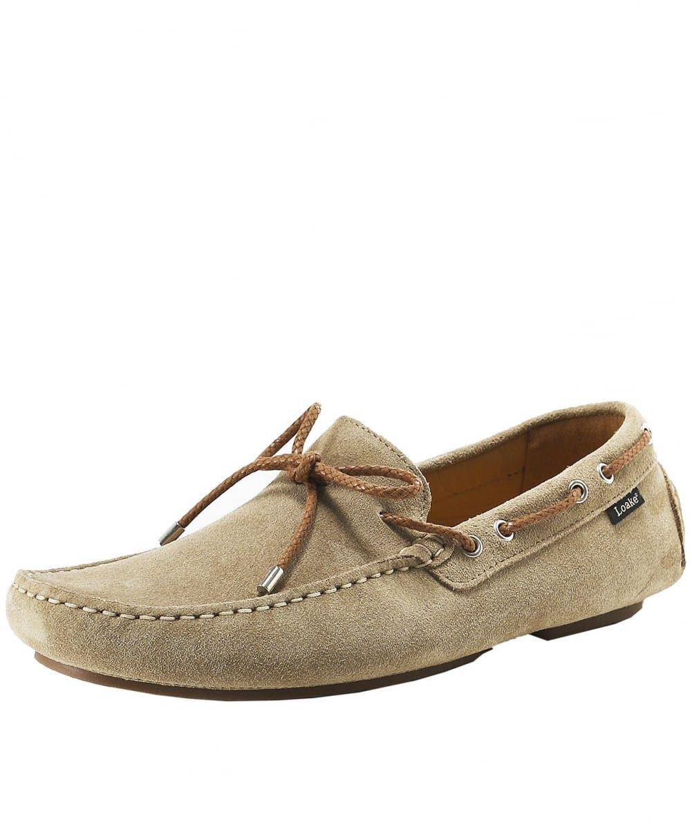 Loake Hombres thruxton Suede Zapatos de Conducción Sand 12 UK|Sand