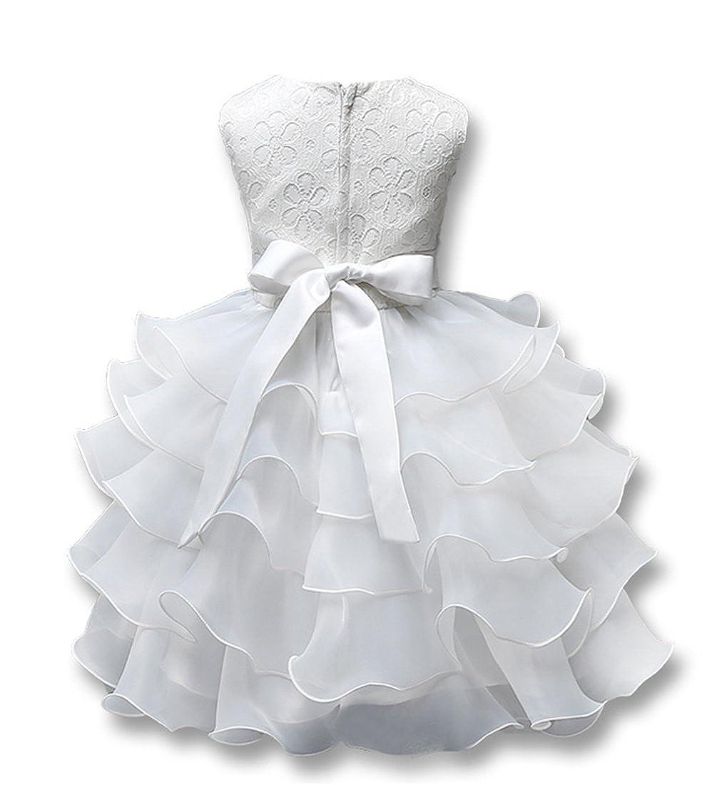 Csbks Girls Wedding Party Dress Pageant Baby Ruffles Tulle Princess Dresses