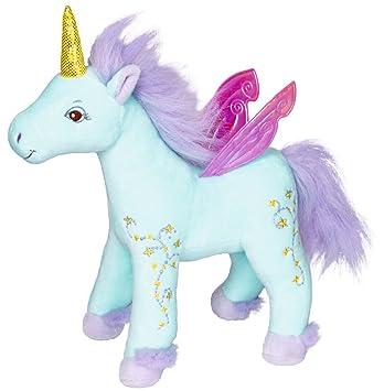 Muñeco de Peluche de Unicornio Princesa Lillifee, Color Azul, de 27 cm, Modelo